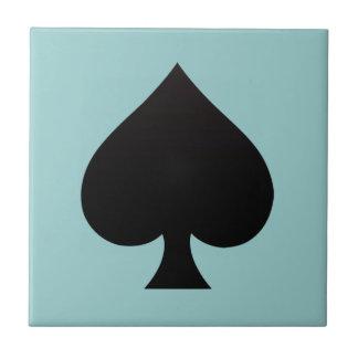Espada negra - juego de las tarjetas, póker, lanza teja  ceramica