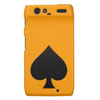 Espada negra - juego de las tarjetas, póker, lanza droid RAZR fundas