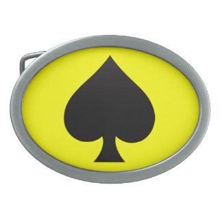 Espada negra - juego de las tarjetas póker lanza hebillas de cinturon ovales