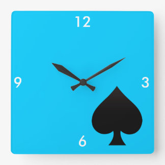 Espada negra - juego de las tarjetas, póker, lanza reloj cuadrado
