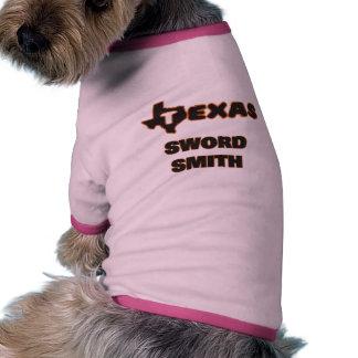 Espada Smith de Tejas Camiseta Con Mangas Para Perro