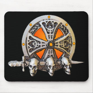 Espada y escudo Mousepad de Viking