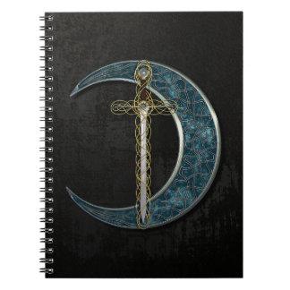 Espada y luna célticas libretas