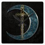 Espada y luna célticas relojes