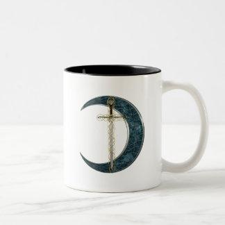Espada y luna célticas tazas