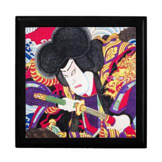Espadachín clásico japonés oriental fresco del sam joyero cuadrado grande