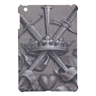 Espadas corona y corazón iPad mini cárcasa