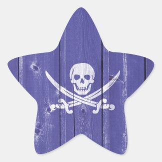 Espadas de la cruz del cráneo de la diversión en e pegatinas forma de estrellaes