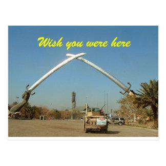 Espadas de la postal de Iraq