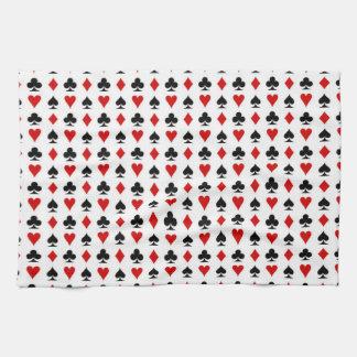 espadas de los diamantes de la textura del modelo toallas de cocina