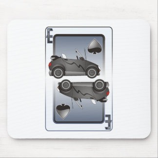 Espadas de los naipes del coche de Eco Mouse Pad