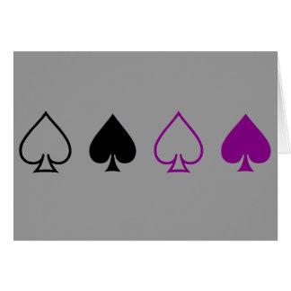 Espadas negras y púrpuras tarjeta de felicitación