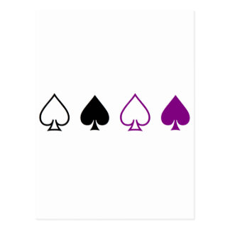Espadas negras y púrpuras tarjeta postal