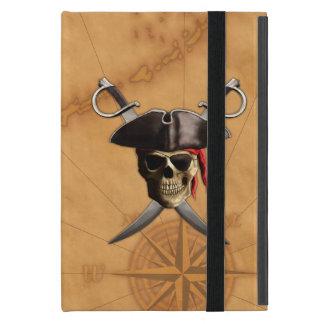 Espadas y mapa del cráneo del pirata iPad mini cobertura