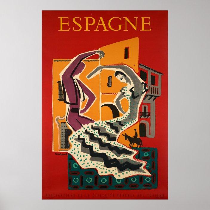 Espagne Spain Travel Poster Zazzle Com