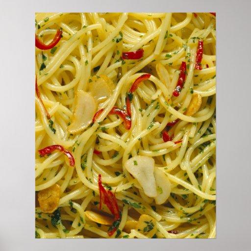 Espaguetis Aglio; Ensaladilla y Peperoncino Posters