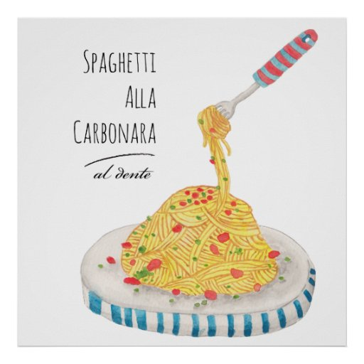 Espaguetis Alla Carbonara Poster