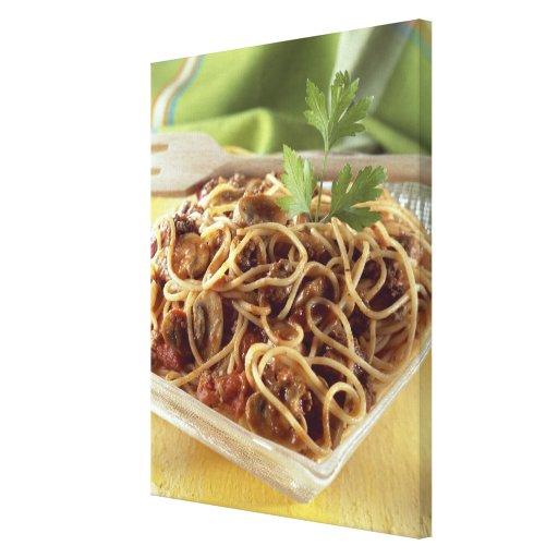 Espaguetis boloñés para el uso en los E.E.U.U. sol Impresión En Lona