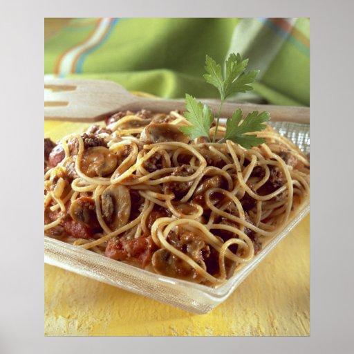 Espaguetis boloñés para el uso en los E.E.U.U. sol Impresiones