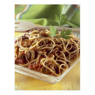 Espaguetis boloñés para el uso en los E.E.U.U. sol Tarjetas Postales