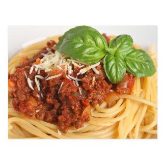 Espaguetis boloñés tarjeta postal