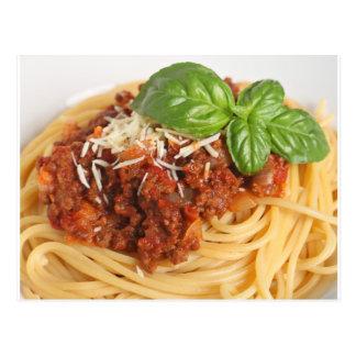 Espaguetis boloñés tarjetas postales