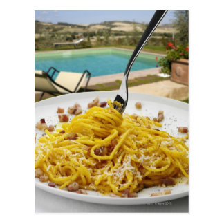 Espaguetis Carbonara Postales