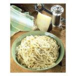 Espaguetis con el romano y el negro de Pecorino Fotografía