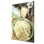 Espaguetis con el romano y el negro de Pecorino Impresiones En Lona Estiradas