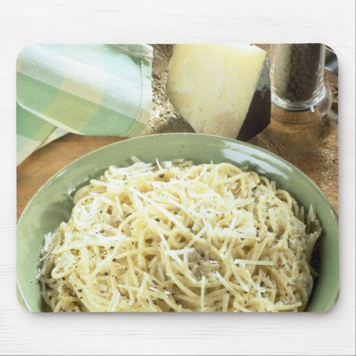 Espaguetis con el romano y el negro de Pecorino Mouse Pads