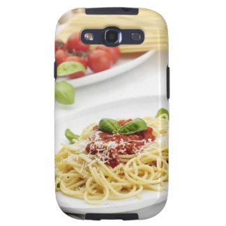 Espaguetis con la salsa y la albahaca de tomate samsung galaxy SIII funda