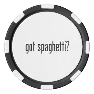 espaguetis conseguidos juego de fichas de póquer