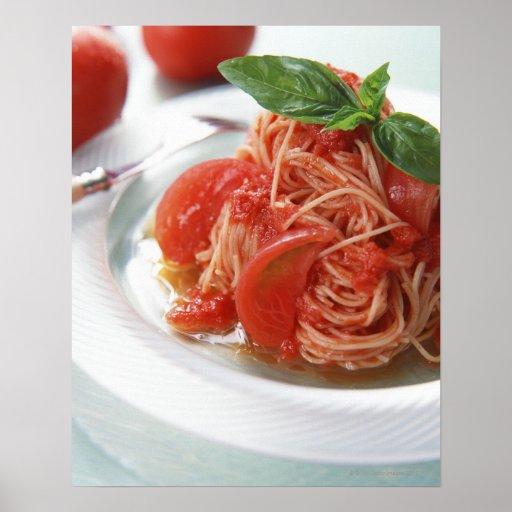 Espaguetis del tomate posters