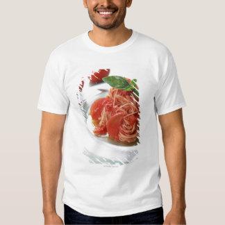 Espaguetis del tomate poleras