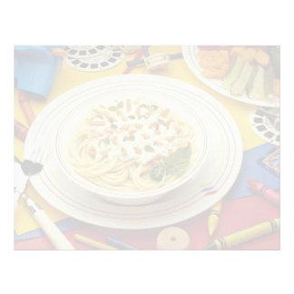 Espaguetis deliciosos plantilla de membrete