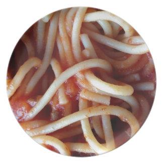 espaguetis plato de cena