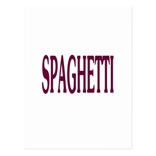 Espaguetis Postal