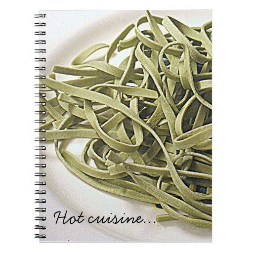 Espaguetis verdes cuadernos
