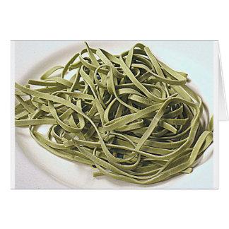 Espaguetis verdes tarjeta pequeña