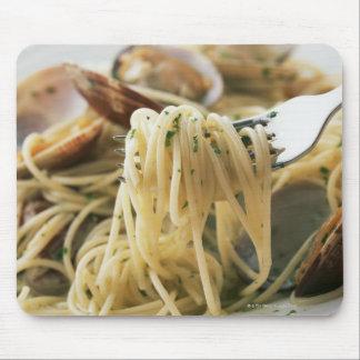 Espaguetis Vongole Bianco Alfombrillas De Ratón