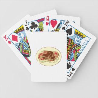 Espaguetis y albóndigas baraja de cartas