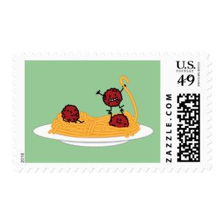 Espaguetis y albóndigas felices sellos