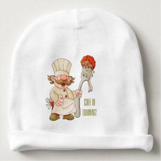 Espaguetis y albóndigas italianos del cocinero gorrito para bebe