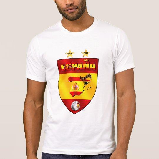 España 1964 2008 escudos del emblema del futbol playera