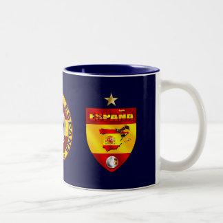 Espana 1 star champions gift Two-Tone coffee mug