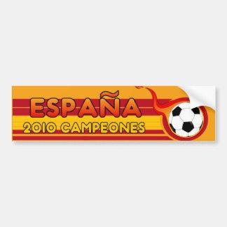 Espana 2010 Campeones Soccer Bumper Sticker Car Bumper Sticker