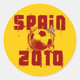 España 2010 pegatina redonda