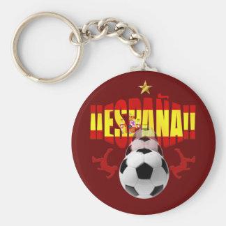 España 2010 una estrellas Campeones Del Mundo Llavero Redondo Tipo Pin
