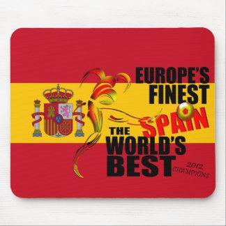 España 2012 campeones europeos Mousepad del fútbol