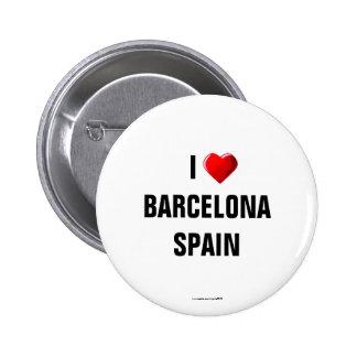 """España: """"AMO Pin del botón de BARCELONA, ESPAÑA""""/d"""